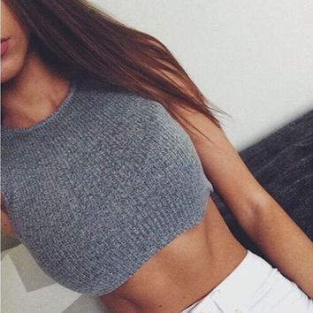 Gray Knit Camisole