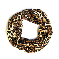 Childs Leopard Scarf Kids Infinity Scarf Black Brown Camel Double Loop Scarf Girls Scarf Cute Toddler Scarf Holiday Gift Ready to Ship