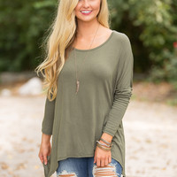 Create A New Beginning Blouse Olive