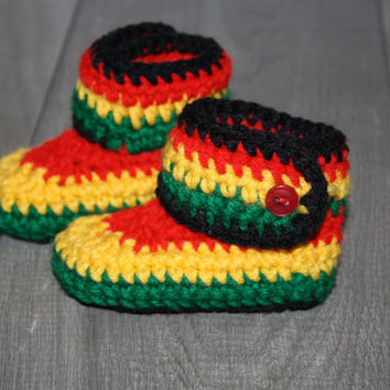 BRAND NEW Rasta Baby High Top Winter Booties - USA Made
