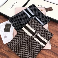 GUCCI popular casual men and women full printed logo double-sided color shawl scarf