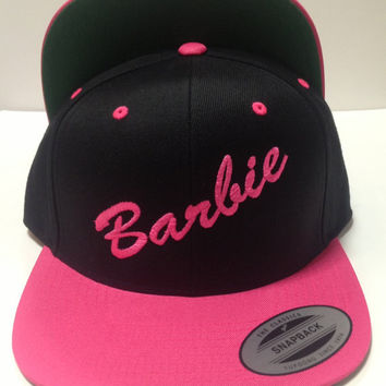 BARbie Hat Snapback Black Pink Cap