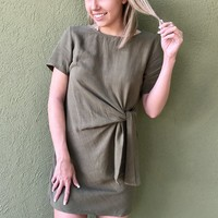 Ready For Fall Dress - Olive