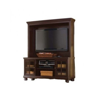 Espresso Tv Stand with Hutch
