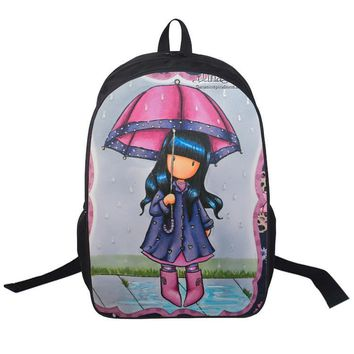 The little girl Cartoon cute Backpack Teenage Mutant Ninja Turtles Bags Printing Children School Bags 7 style