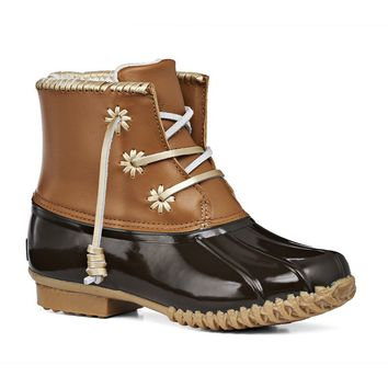 Chloe Classic Duck Boot in Dark Brown by Jack Rogers