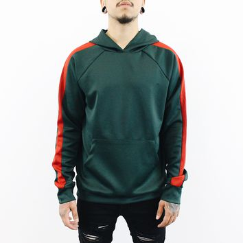 Gerry Striped Hoodie (Green/Red)