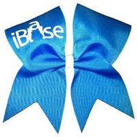 New iBase Cheer Bow- Neon Blue
