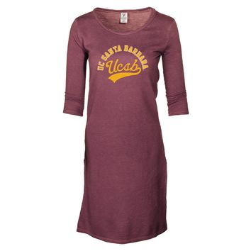 Official NCAA University of California Santa Barbara Gauchos UCSB Ole the Gaucho OLE! Womens Slub Fleece Tunic With Slits