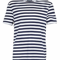 NAVY AND WHITE STRIPE T-SHIRT - New In