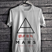 Rock Legend Series - 30 Second to Mars This is War T-Shirt Design S M L XL 2XL 3XL Ready Stock