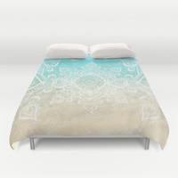 Beach Mandala Duvet Cover by Jenndalyn