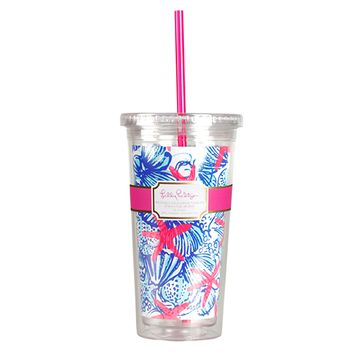 LILLY PULITZER: Tumbler - She She Shells