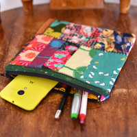 Zipper Pouch All Purpose Pouch Makeup Bag Cosmetic Bag Toiletry Bag Pencil Pouch Coin Purse Patchwork Zipper Pouch Clutch Gadget Case