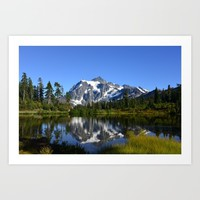 Mount Shuksan - View from Picture Lake Art Print by Lena Photo Art