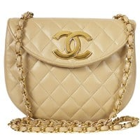 Vintage Chanel Big Logo Classic Flap Shoulder Bag