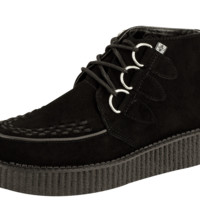 Black 3-Ring Creeper Boot - T.U.K. Shoes
