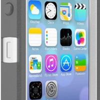 OtterBox DEFENDER SERIES Case for iPhone 5/5s/SE - Retail Packaging - GLACIER (WHITE/GUNMETAL GREY)