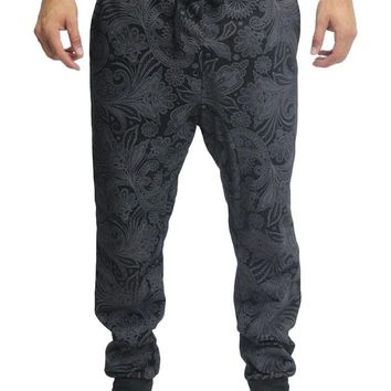 Tonal Paisley French Terry Jogger Pants JG711 - J21D