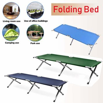 Aluminium Steel 600D  PVC Oxford Outdoor Portable Military Folding Camping Cot XL