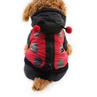Armi store Ladybug Design Dog Coat Dogs Windbreaker Coats 6141027 Pet Clothes Supplies S M L XL