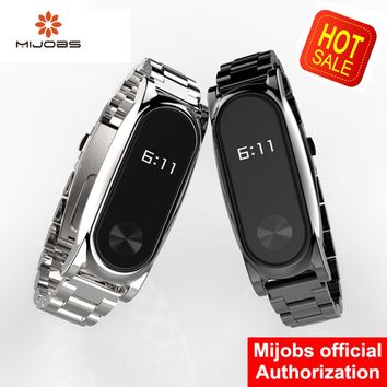 Mi Wriststraps Metal For Xiaomi Mi Band 2 Stainless Steel Wristband Bracelet