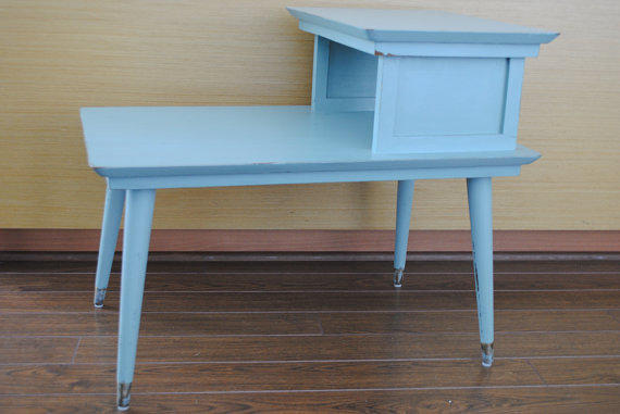 Retro Mid Century 2 Level End Table/ Side From