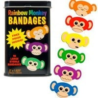 Rainbow Monkey Bandages - Girlzlyfe.Com
