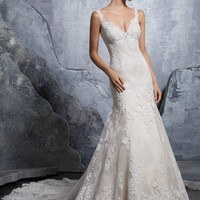 Morilee 8218 Krystal Elegant Fit and Flare Wedding Dress