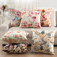 2016 Flowers Cushions Home Decor Pillows New 2016 Signature Cotton Cecorative Throw Pillows Decor Pillow