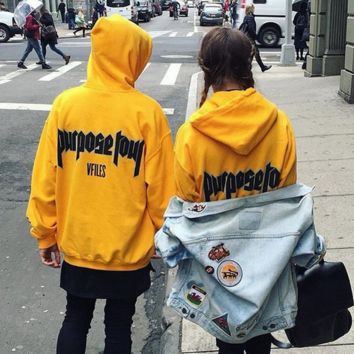 Purpose Tour Security Yellow Sweatshirts Hoodies