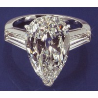 2.11 carat PEAR Shape Platinum DIAMOND RING solitaire  engagement anniversary
