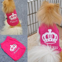 Beautiful Pet Dog Cat Princess T-shirt Clothes Costumes Outfit Vest Summer Coat = 1930015940