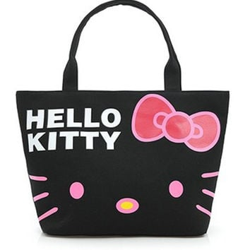 HELLO KITTY Canvas Shoulder Tote Handbag Furly Candy Mickey Ladies Hand Bags Spain Sac A Main Femmes Bolsa De Praia Shopper
