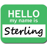 Sterling Hello My Name Is Mouse Pad