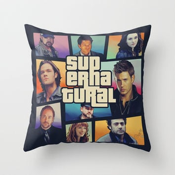 supernatural GTA Throw Pillow by KanaHyde