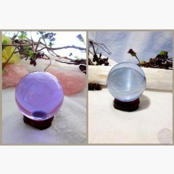"""Stone of Prosperity"" Alexandrite Crystal Ball & Stand Set 50mm"