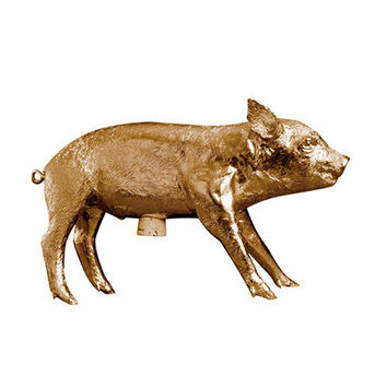 Bank In The Form Of A Pig | Areaware | Gold Pink White Navy Black Gunmetal Silver