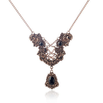 Vintage steampunk fashion necklace jewelry for women