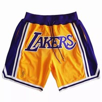 NBA Los Angeles Lakers Just Don Shorts Lebron James Shorts