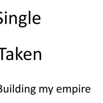 Single, Taken, Building My Empire T Shirt