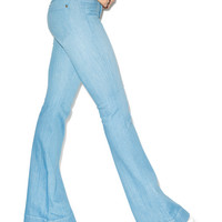 Wildfox Couture The Farrah High Rise Flare Jeans Mist