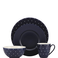 Kate Spade Larabee Dot 4 Piece Place Setting Navy ONE