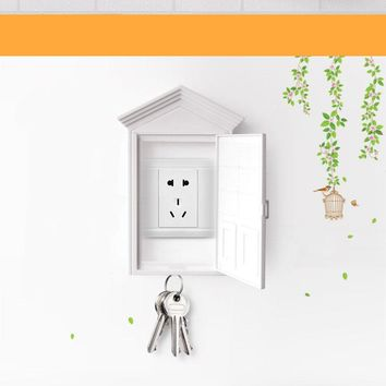 Creative Plastic Light Switch Double *Socket Keychain Holder Home Baby Safety Tool Protection Cover
