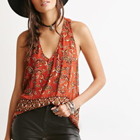 Paisley Y-Back Top