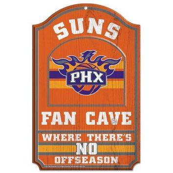 Phoenix Suns No Offseason 11x17 Wood Fan Sign