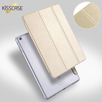KISSCASE Smart Wake Clear Silk Leather Case For iPad Mini 2 3 Air 5 Stand Function Cover Pouch Deluxe Ultra thin Slim Clear Case