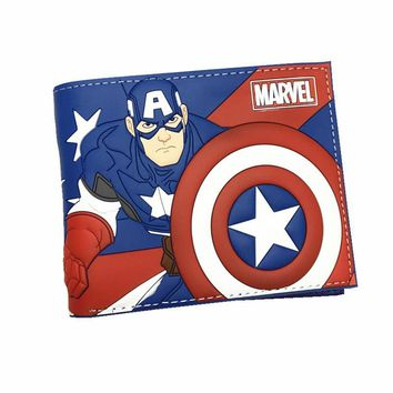 Super Mario party nes switch New Desigh PVC and PU Leather Anime Wallet Captain American Deadpool Spiderman  Wallets With Card Holder AT_80_8