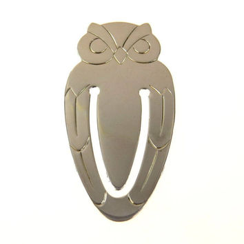 Tiffany & Co Sterling Silver Owl Bookmark ca 1940s