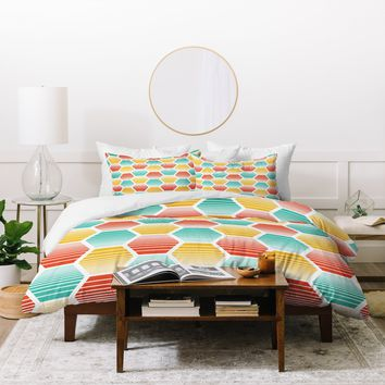 Heather Dutton Honey Jive Summerlicious Duvet Cover